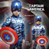 Baju kostum anak captain America superhero avengers ulangtahun cosplay