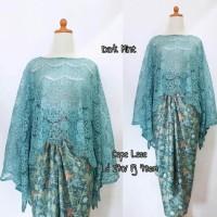 set baju kebaya model cape lace NEW