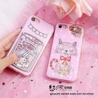 Samsung A6 2018 Pink Art Dynamic Glitter Liquid Quicksand Cover Case