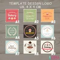 Stiker Sticker logo label merk bakery bake kue coffe online shop