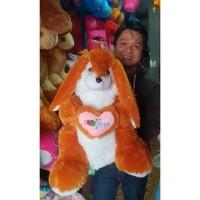 Boneka kelinci rabbit coklat brown jumbo besar murah