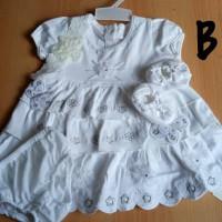 Dress bayi /baju anak perempuan usia 0-6 bulan