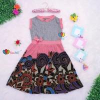 Dress Lala uk 7 Tahun / Dress Anak Perempuan Cewek Baju Dres Batik