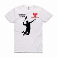 Kaos asian games 2018 badminton indonesia