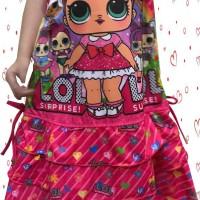 Baju Dress Anak Perempuan Susun 3 LOL Suprise | 1DA3-11B