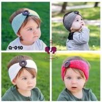 Bandana Bayi Anak Rajut Bando Knit Kancing   Baby Headband 9
