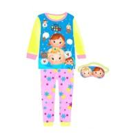 Junior Wardrobe Piyama Mask Tsum Frozen Setelan Baju Tidur Anak Peremp