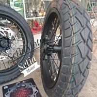 Velg CRF 150 Set Paket Supermoto Lebar 300 x 450 ring 17 Paket Ban