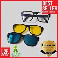 Magic vision 3 in 1 Kacamata HD ASK Vision Magnet Original 100% Asli