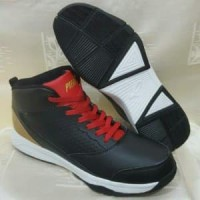 Sepatu basket piero zagato black red gold Berkualitas