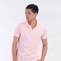 MON AKITA - Enzo Men Polo Pink Shirt - Kaos Polo Merah Muda Pria