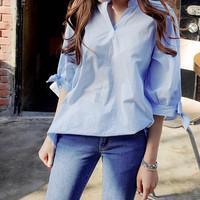 Kemeja Style Korea Atasan Baju Kotak Fashion Wanita pakaian Celana NEW