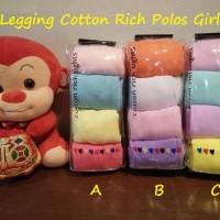 Legging Cotton Rich Polos 4in1 Girl / Baby Legging / Stocking Bayi