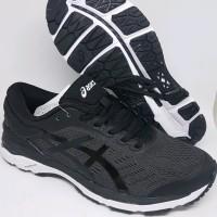 Sepatu volly Running Gym Asics Gel Kayano 24 black white