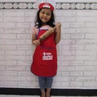 celemek/topi koki/baju koki/kostum koki/baju chef/celemek anak/chef