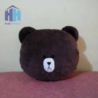 Bantal Penghangat Tangan Brown Line (Warmer Hand Pillow Plush)