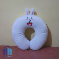 Bantal Leher Cony (Line Character Neck Pillow)