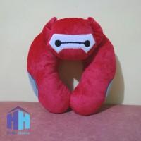 Bantal Leher Baymax Red (Big Hero 6 Neck Pillow)