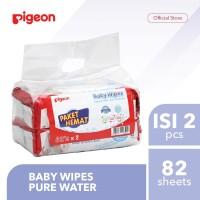 PIGEON Baby Wipes Pure Water - 82 Sheets Isi 2 Pcs | Tisu Basah Bayi