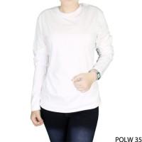 Baju Kaos Lengan Panjang Wanita - Putih
