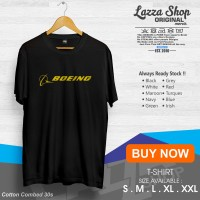 Kaos / Baju / Tshirt Distro Boeing Logo Gold Termurah
