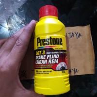 Minyak Rem Merah Prestone 300 mL Dot-3 untuk Motor , Mobil , DLL