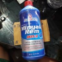 Minyak Rem Merah Jumbo 1000 mL / 1 liter Dot-3 untuk Motor , Mobil