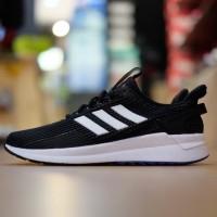 ORIGINAL Sepatu Adidas Neo Cloudfoam Questar Ride Mesh Black White