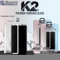 SAMSUNG NOTE 8 K2 PREMIUM TEMPERED GLASS WARNA FULL COVER