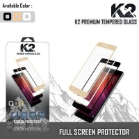 Tempered Glass WARNA K2 PREMIUM FUL LAYAR OPPO F7 VIVO V9 NEW