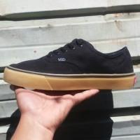 Sepatu Vans Authentic Hitam Coklat - Black Gum - Grade Ori 39 s/d 43