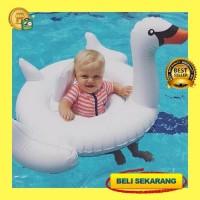 BELAJAR BERENANG Baby Float Swan White Ban Renang Pelampung Bayi Ang