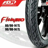 BAN LUAR FDR 80/90-14 FLEMINO TUBELESS (Bonus Pentil Tubeless)