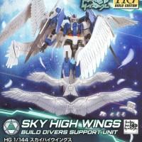 Bandai HG HGBD 1/144 gundam Sky high wings 00 build diver wing