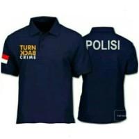 Polo shirt Polisi Turn Back Crime / Baju Polo Kaos Kerah TBC