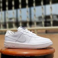 sepatu sport nike force one karet / sneakers wanita gym putih polos