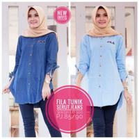 Baju wanita blouse tunik fila muslim modern modis lucu unik keren