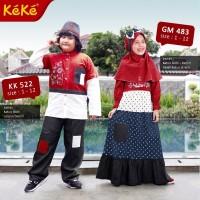 Baju Couple Anak Keke KP 522 & GM 483 Koko Maroon size No. 2