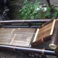 Kerajinan bambu bangku set