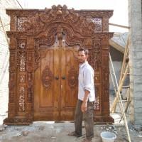 Hot Pintu Gebyok Full Ukir Jati Murah Meriah