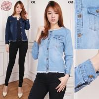SB Collection Atasan Blouse Outer Feren Jaket Casual Jeans Wanita