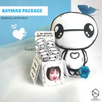 Paket Ulang Tahun Hadiah Pacar Anniversary Baymax: Bantal + Card Box