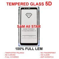Samsung A8 Star full screen guard anti gores 3D 4D TEMPERED GLASS 5D