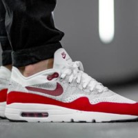 sepatu Nike Air Max 1 Ultra Flyknit white red original quality