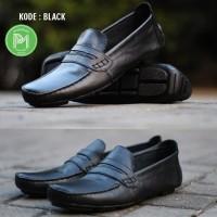 Sepatu kerja santai kuliah kondangan kulit asli bally shoes leather