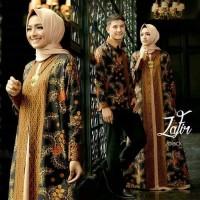 Seragam kondangan couple baju pasangan batik zafir kemeja panjang dres
