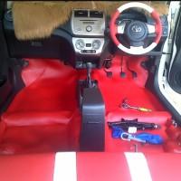 Karpet Dasar Peredam Warna Utk Mobil Agya/Ayla - Full Bagasi