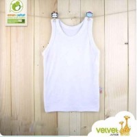VELVET Singlet LL/LB - Baju Bayi Kaos Dalam Bayi Putih Velvet Junior