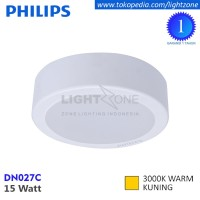 Lampu Downlight LED Outbow Philips DN027C LED12 Warm White 15W Kuning