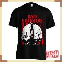 Kaos Band Bad Religion C19 Warna Hitam Ukuran S M L XL XXL Bahan